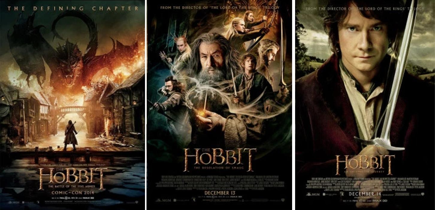 TRILOGIA FILMES O HOBBIT